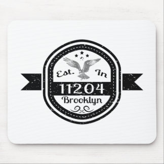 Established In 11204 Brooklyn Mouse Pad