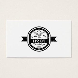 Established In 11207 Brooklyn Business Card