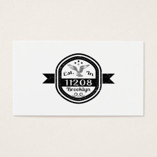 Established In 11208 Brooklyn Business Card