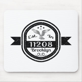Established In 11208 Brooklyn Mouse Pad