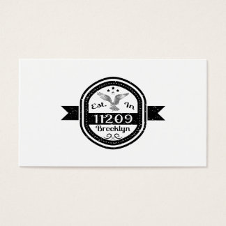 Established In 11209 Brooklyn Business Card