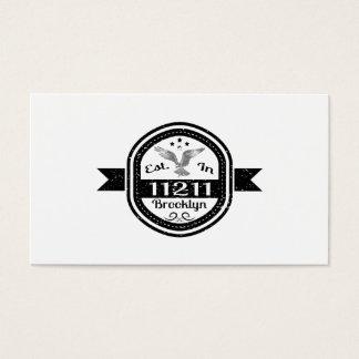Established In 11211 Brooklyn Business Card