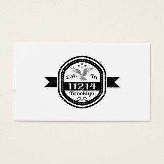 Established In 11214 Brooklyn Business Card