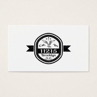 Established In 11215 Brooklyn Business Card