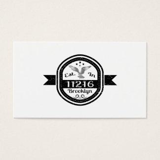Established In 11216 Brooklyn Business Card