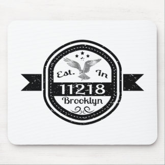 Established In 11218 Brooklyn Mouse Pad