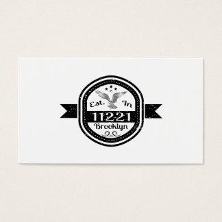 Established In 11221 Brooklyn Business Card