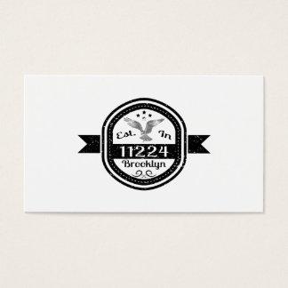 Established In 11224 Brooklyn Business Card
