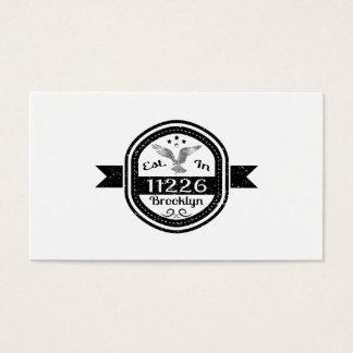 Established In 11226 Brooklyn Business Card