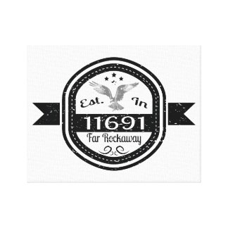 Established In 11691 Far Rockaway Canvas Print