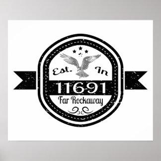 Established In 11691 Far Rockaway Poster