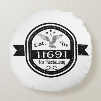 Established In 11691 Far Rockaway Round Cushion