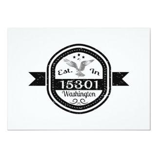 Established In 15301 Washington Card