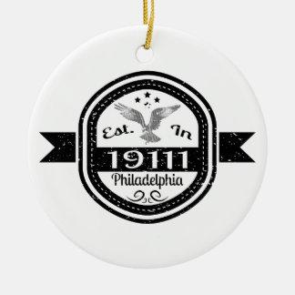 Established In 19111 Philadelphia Ceramic Ornament