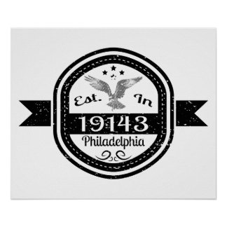 Established In 19143 Philadelphia Poster