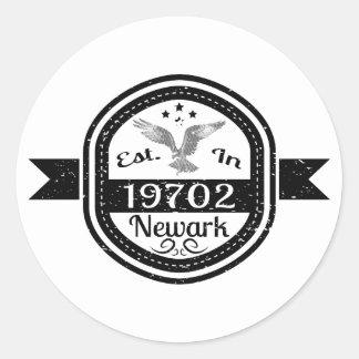 Established In 19702 Newark Classic Round Sticker