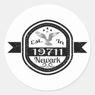 Established In 19711 Newark Classic Round Sticker