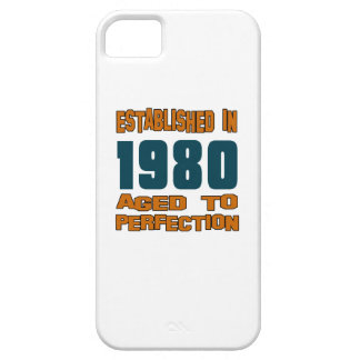 Established In 1980 Barely There iPhone 5 Case