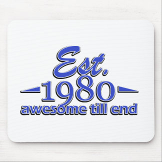 Established in 1980 mouse pad
