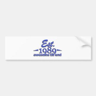 Established in 1989 birthday designs bumper sticker
