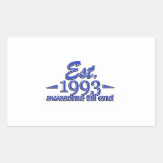 Established in 1993 birthday designs sticker