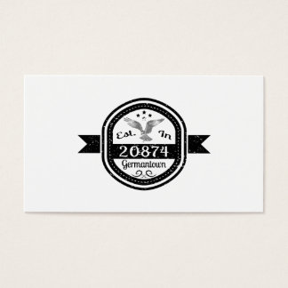 Established In 20874 Germantown Business Card