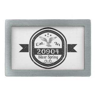 Established In 20904 Silver Spring Belt Buckles