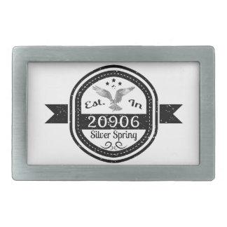 Established In 20906 Silver Spring Belt Buckle