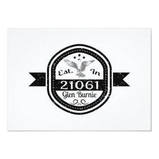 Established In 21061 Glen Burnie Card