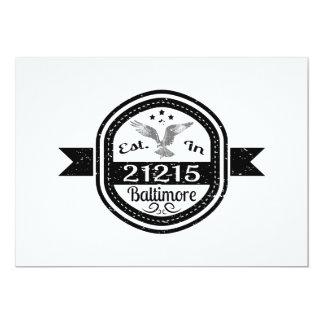 Established In 21215 Baltimore Card