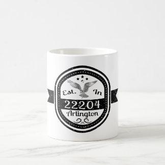 Established In 22204 Arlington Coffee Mug