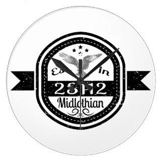 Established In 23112 Midlothian Large Clock