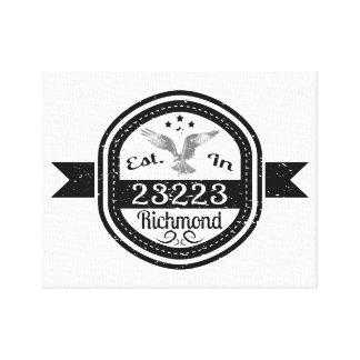 Established In 23223 Richmond Canvas Print