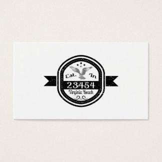 Established In 23454 Virginia Beach Business Card