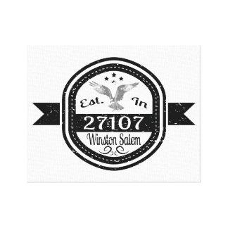 Established In 27107 Winston Salem Canvas Print
