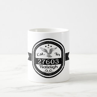 Established In 27603 Raleigh Coffee Mug