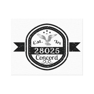 Established In 28025 Concord Canvas Print