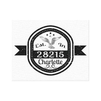 Established In 28215 Charlotte Canvas Print