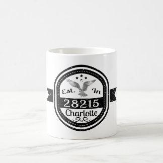 Established In 28215 Charlotte Coffee Mug