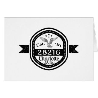 Established In 28216 Charlotte Card