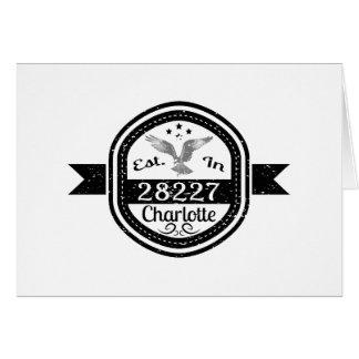 Established In 28227 Charlotte Card