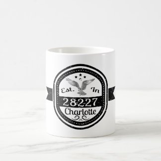 Established In 28227 Charlotte Coffee Mug