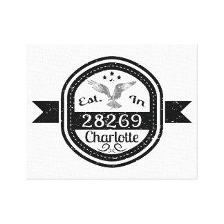 Established In 28269 Charlotte Canvas Print