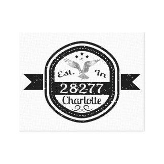 Established In 28277 Charlotte Canvas Print