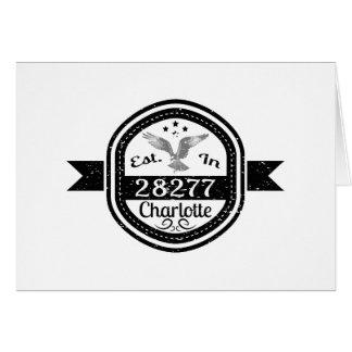 Established In 28277 Charlotte Card