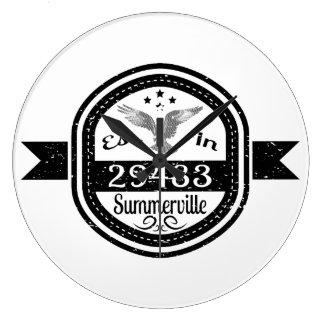 Established In 29483 Summerville Clock