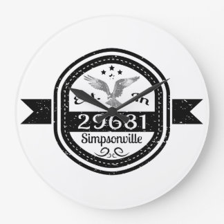 Established In 29681 Simpsonville Large Clock