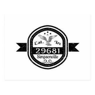 Established In 29681 Simpsonville Postcard