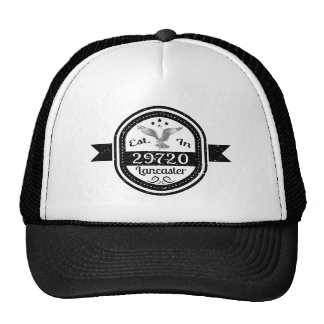 Established In 29720 Lancaster Cap