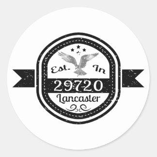 Established In 29720 Lancaster Round Sticker